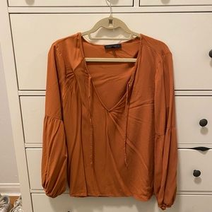 Orange tunic with strings